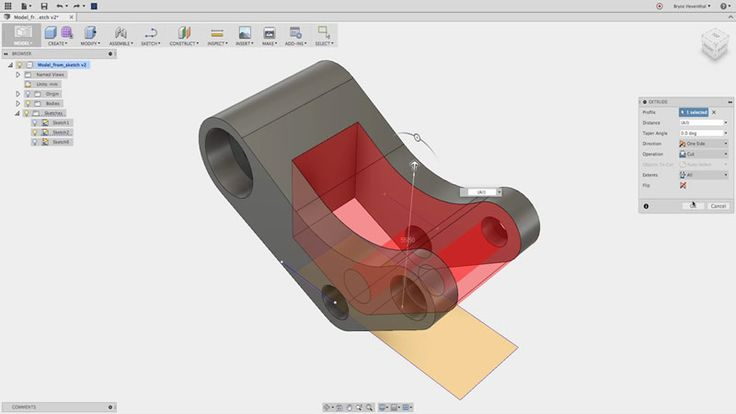 Autocad Fusion 360 - 3D drawing software, free for hobbyists