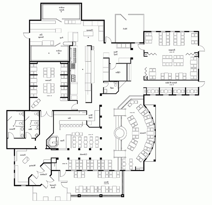 Kitchen Layout Plans For Restaurant: 67 Best Images About Restaurant Design/Layout On Pinterest