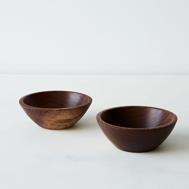 Hand-turned Small Walnut Bowls (Set of 2)