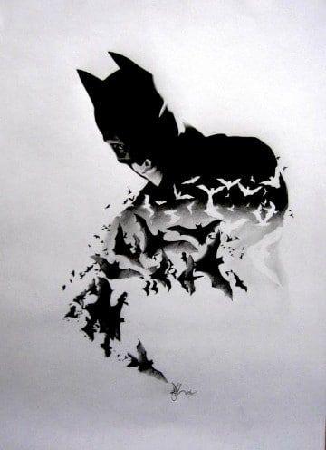 dibujos de batman a lapiz dificiles