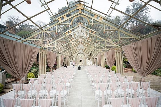 Glass marquee ceremony at Shepstone Gardens | SouthBound Bride | http://www.southboundbride.com/romantic-rose-gold-wedding-at-shepstone-gardens-by-jack-and-jane | Credit: Jack and Jane Photography