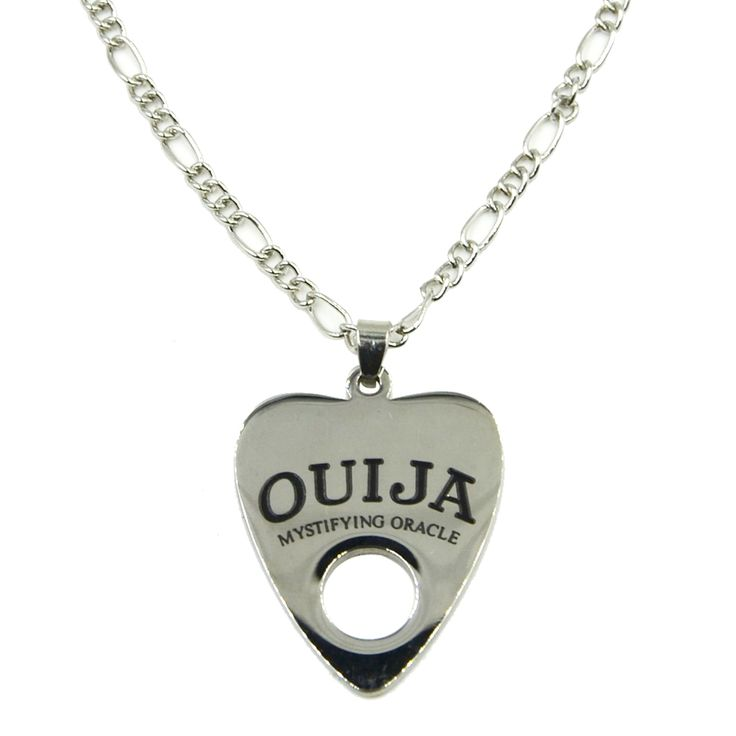 "Fashion Stainless Steel Ouija Pendant Necklace Body Jewelry with 24"" Chain"