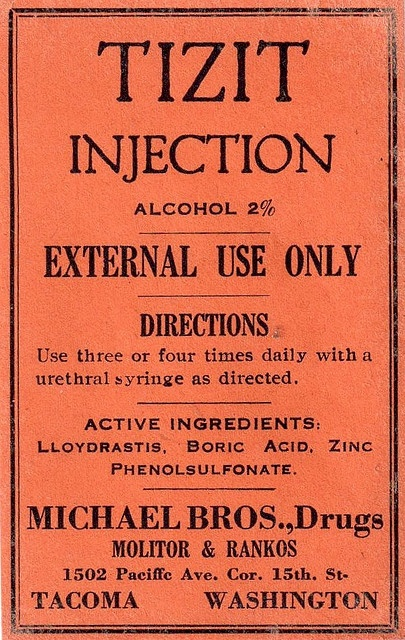 Vintage Drug Information Label