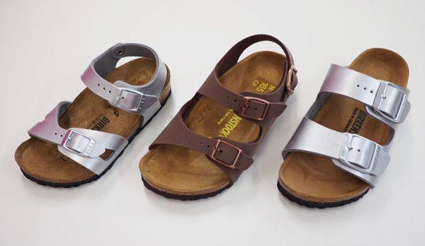 Birkenstock Sandals have landed in 3 fabulous styles. From L-R above, these styles are Rio, Roma and Milano... A german footwear fashion institution, these classic kids cork footbed sandals are so functional, tried and tested by our own children, and built for the Aussie lifestyle.