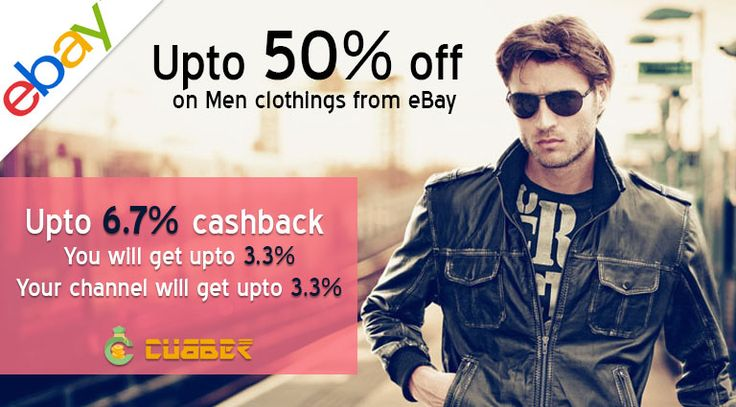 Ebay - Men's Clothing Collection Shopping men's clothing with ebay upto 50% off and you will get upto 6.7% cashback from cubber.  Online Shop and Earn :- http://shop.cubber.in/ Download Cubber app:- http://cubber.in/app  #cubberapp #cashbackoffers #shoppingonline #cubbershop #ganeshchaturthi #discount  #sale #couponcode #onlinestore #cubberin #extraearn #refernearn #shopnearn