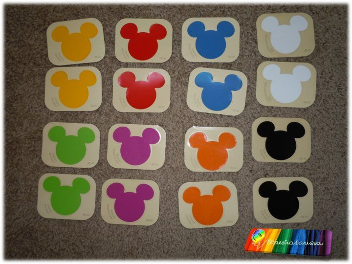 COLOR MEMORY - using Disney paint chips