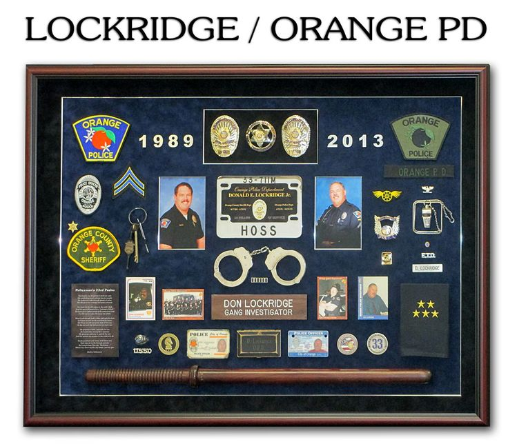 lockridge orange pd police shadowboxes shadow box police badge. Black Bedroom Furniture Sets. Home Design Ideas