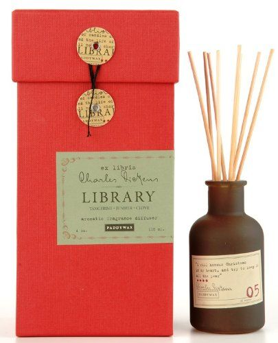 Paddywax Candles Library Collection Charles Dickens Fragrance Diffuser Set, 4-Ounce, (Tangerine Juniper and Clove) Paddywax Candles http://www.amazon.com/dp/B00C0SWAGC/ref=cm_sw_r_pi_dp_yUg3ub1AFJSFK