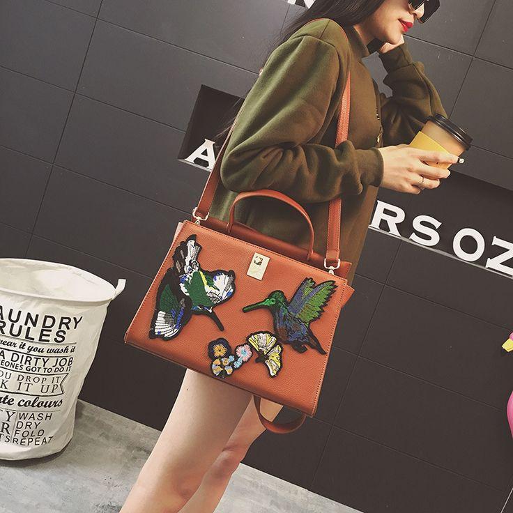 Роскошные Цветы птицы вышитые старинные модный бренд женщин мешок плеча сумки и кошелек crossbody топ ручка сумка купить на AliExpress