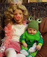 Miss Piggy and Kermit the Frog Homemade Costume