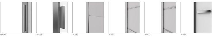 Porte scorrevoli su misura Extralight: massima superficie vetrata, vetri decorati, sistema scorrevole brevettato