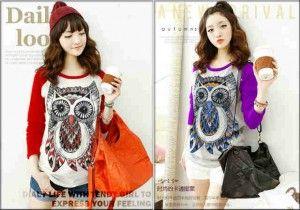 Nama baju : Kaos TP Combed OWL Bahan : Kaos cotton Combed Ukuran : all size fit L . Harga @ Rp.42.500, minimal order 1 seri (2 warna).