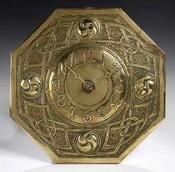 Arts and crafts wall clocks and clock on pinterest for Arts and crafts style wall clock