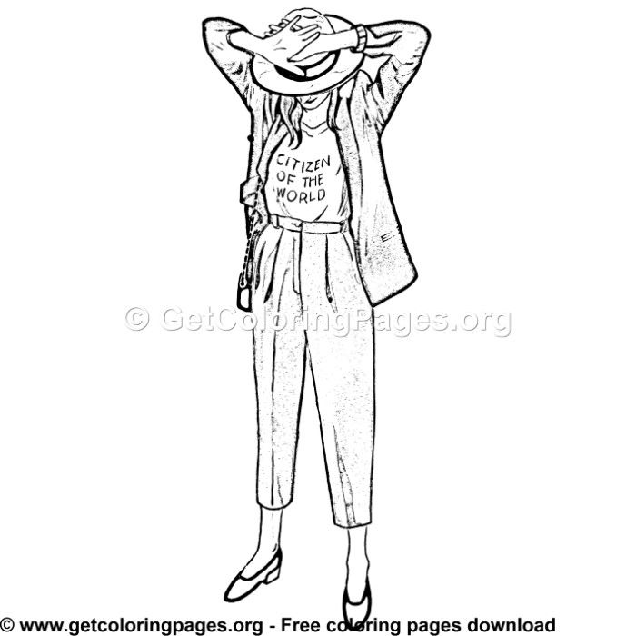 Street Style 1 Coloring Page Coloring Pages Adult Coloring