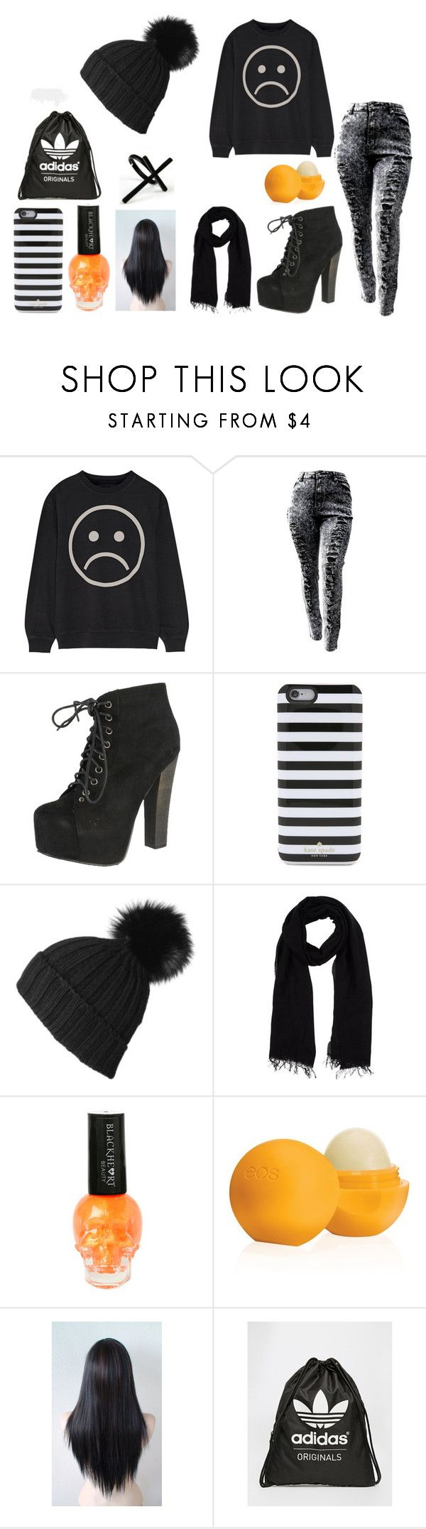"""""""Fall Outfit #2"""" by nightstalker ❤ liked on Polyvore featuring Marc by Marc Jacobs, Breckelle's, Kate Spade, Blue Les Copains, Eos, adidas and Emi Jewellery"""