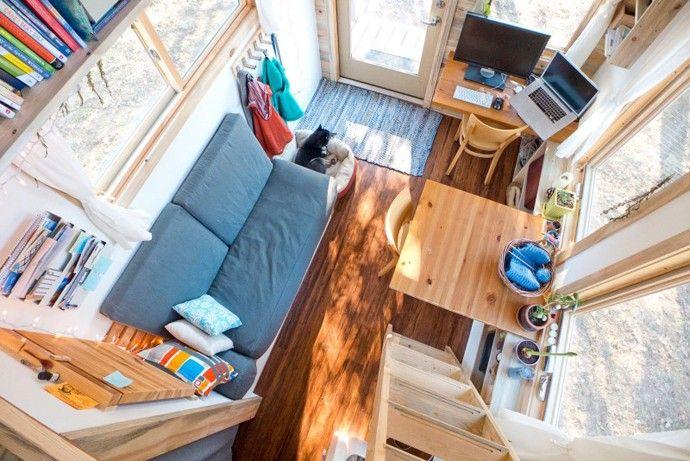 kleinen Innenarchitektur Tiny Projekt Mini Haus die Größe eines kleinen Schlafzimmer-Designs von Alek Lisefski