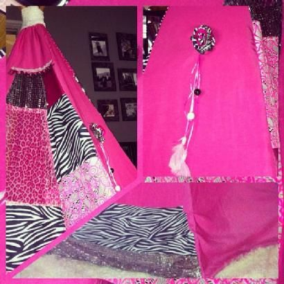 hot pink and animal print for two lovely sisters for orders: teepeelicious@hotmail.com
