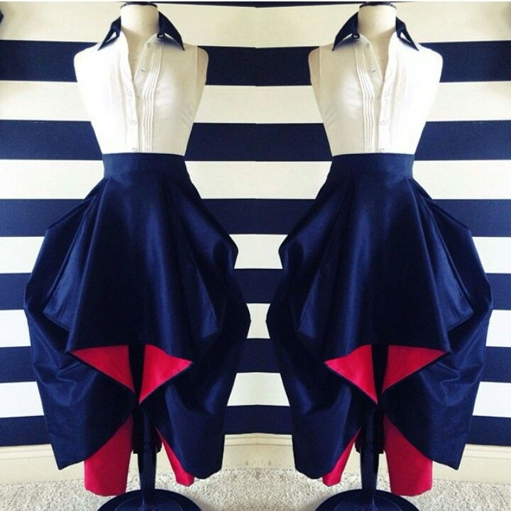 Nicci Hou Red bottom skirt