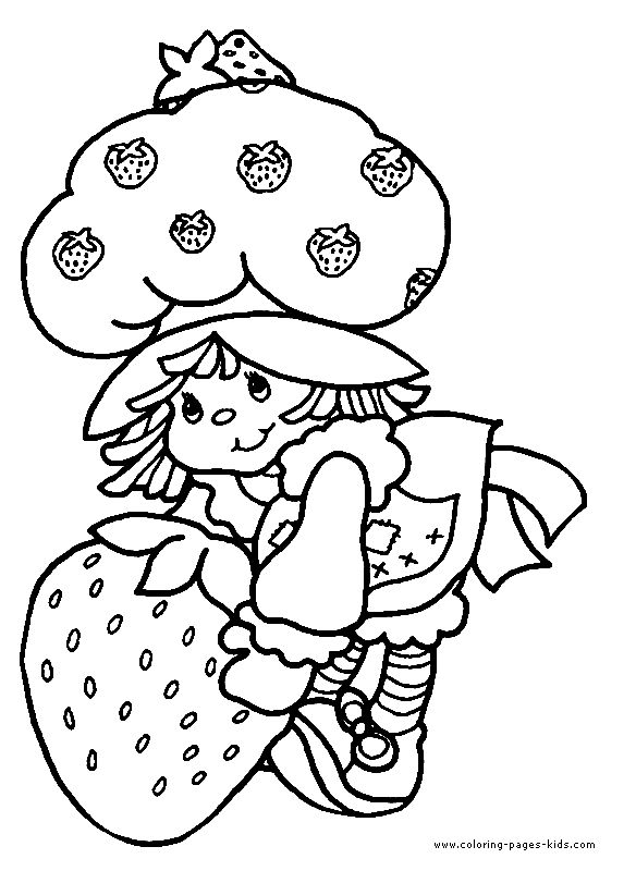 Strawberry Shortcake Color Page Cartoon Characters Coloring Pages Plate Sheetprintable Pict