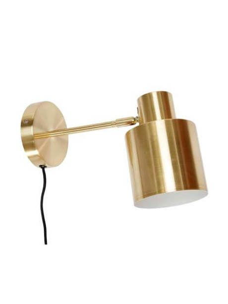 This beautiful and stylish Wood & Brass Wall Lamp would be perfect in a bedroom over your bedside table. We love the unusual finish and the beautiful brass finish.