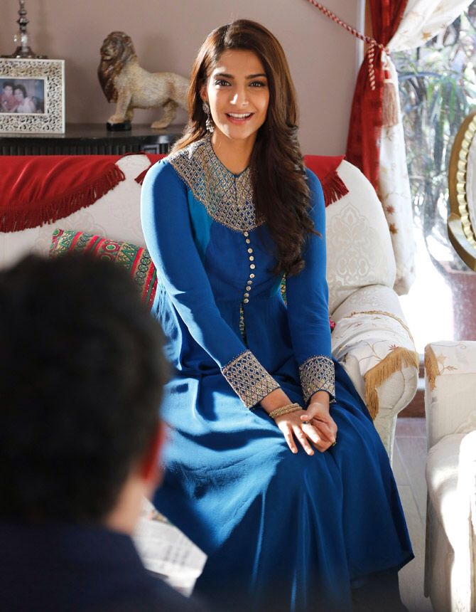 "Sonam Kapoor's blue churidar from the film ""dolly ki doli"" when the grooms family came to visit..."