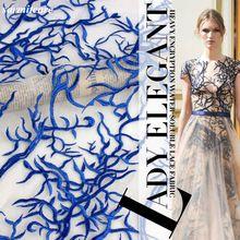 CA081-120 cm Breite 5yds./lot Bestickt Blaue Spitze Stoff für Hochzeitskleid Abendkleid Kleidung Zubehör DIY Spitze Stoff //Price: $US $56.88 & FREE Shipping //     #clknetwork