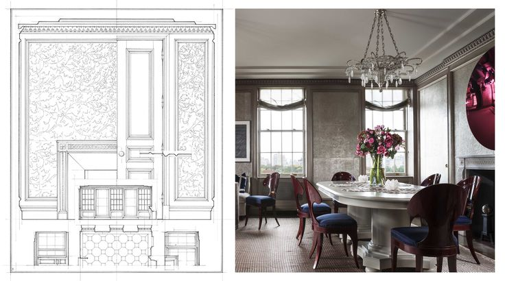 John B. Murray Architect Dining Room Analytique