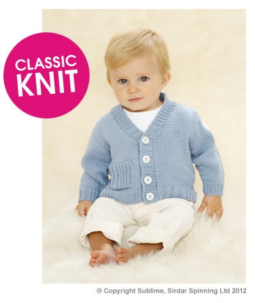 Free Pattern - Sublime Runaway Rib Cardie Knit Along   Deramores