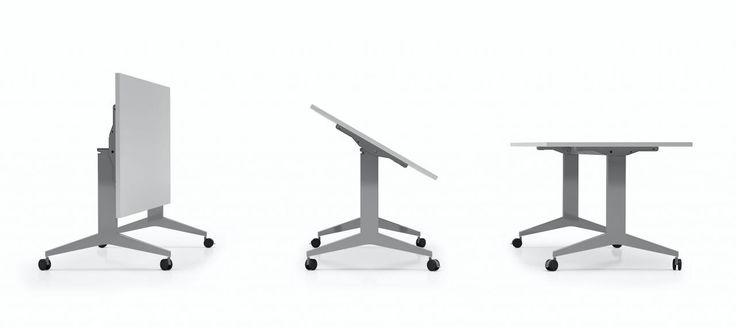 cod. 175.6XX #tavolo #operativo con piano ribaltabile per attrezzare sala #congresso o #meeting. Disponibile in tre dimensioni di lunghezza e tre possibili profondità.