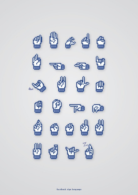 Facebook ASL alphabet - OMG where is this in my whole life?!