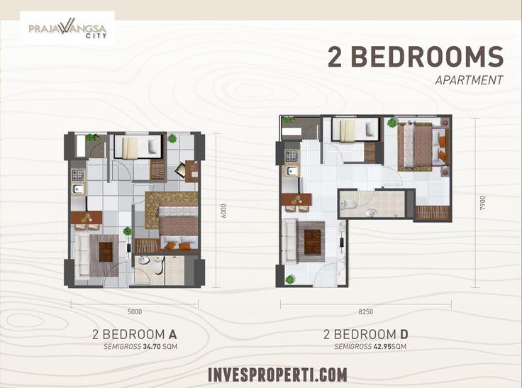 Apartemen Prajawangsa City tipe 2BR