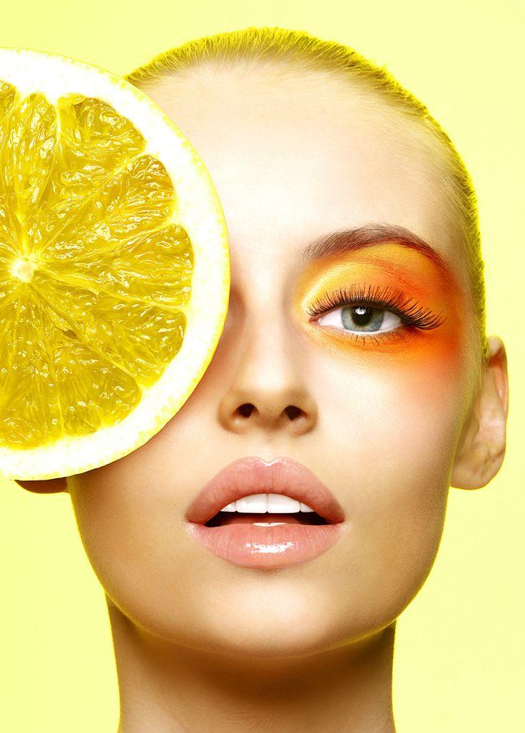 Huljak stephen makeup photography yellow makeup orange