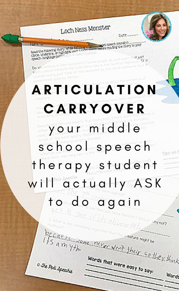 middle school SLP? This one's for you. Articulation carryover for speech therapy that your students will actually WANT to do