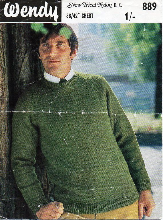 M6053  mens knitting pattern pdf download mens sweater knitting pattern mens jumper mens classic sweater round neck 38-42 DK light worsted 8 ply  All patterns are in English. Please refer to the pictures above for information from pattern on sizes, materials used, needle size etc. Click on the white arrow half way up the picture on the right side. Where a discontinued yarn is used, I check the needle size for a modern equivalent and include in the description. This is meant as a guide only…