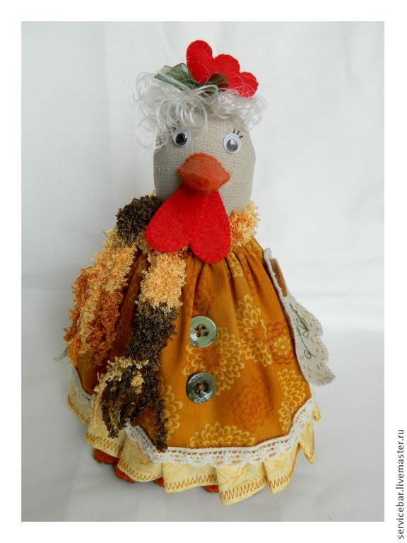 Купить Игрушка текстильная Курочка Рози - подарок, ручная работа, игрушка ручной работы