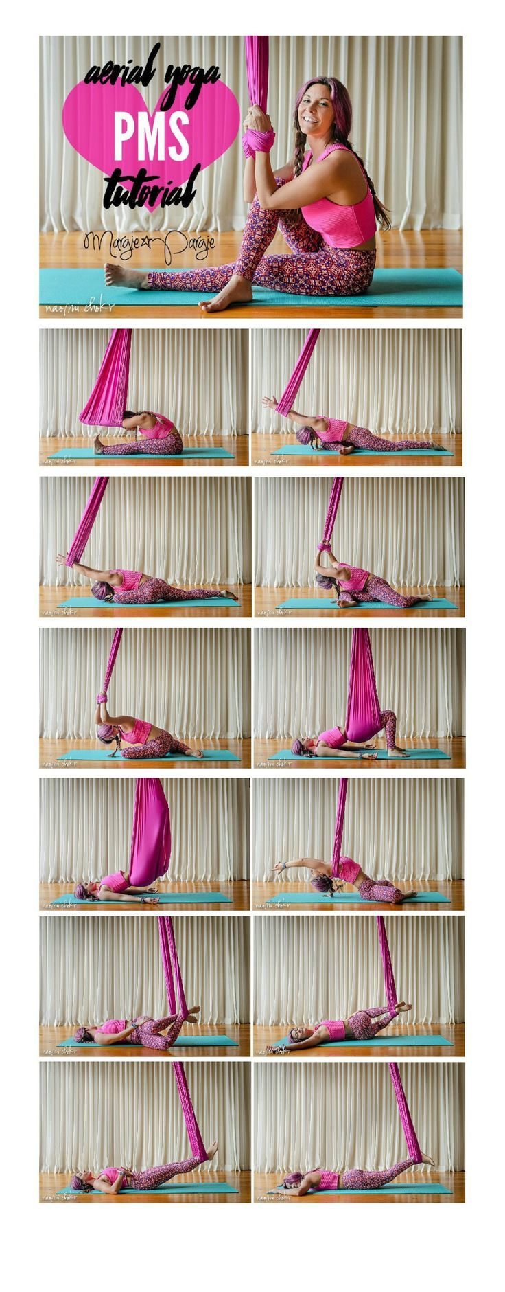 Margie Pargie Aerial Yoga PMS Tutorial.... >> Discover even more by visiting the picture link