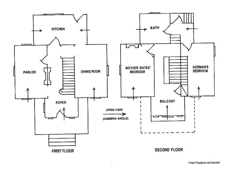 Catholic rectory floor plan google search floor plans for Norman bates house floor plan