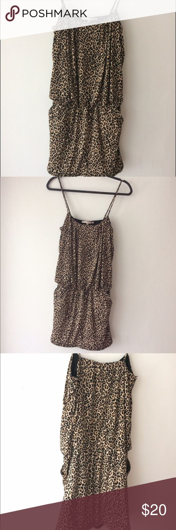 Tally weijl cheetah dress, size M Cheetah mini dress, sexy and very comfortable, has pockets. Was worn only 2-3 times, like new. Tally weijl Dresses Mini