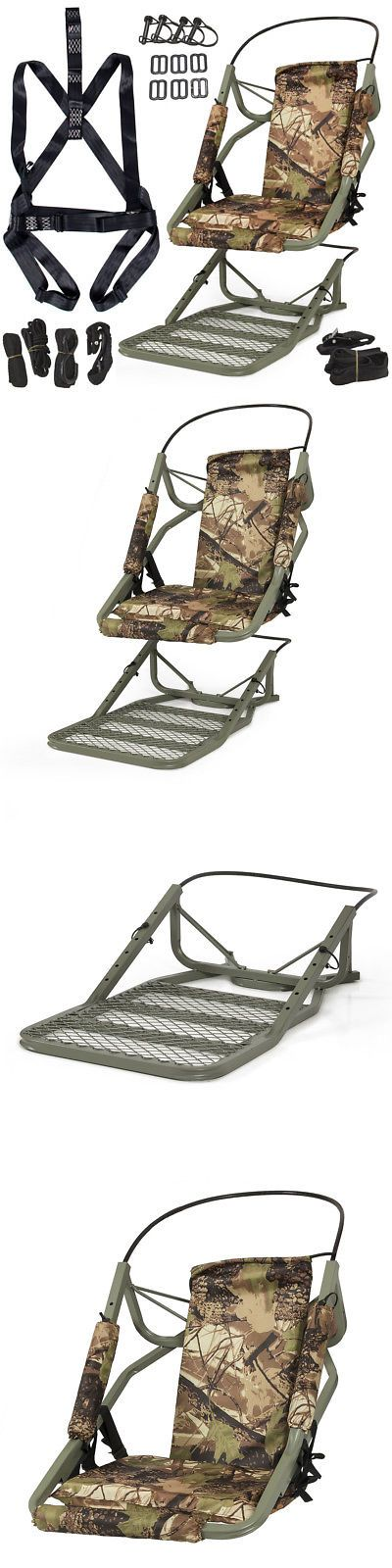 Tree Stands 52508: Portable Tree Stand Climber Climbing Hunting Deer Rifle Bow Game Hunt + Harness -> BUY IT NOW ONLY: $74.98 on eBay!