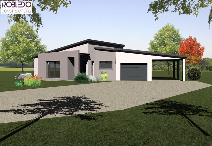 101 best Future maison images on Pinterest Architecture plan - plan de maison rectangulaire plain pied