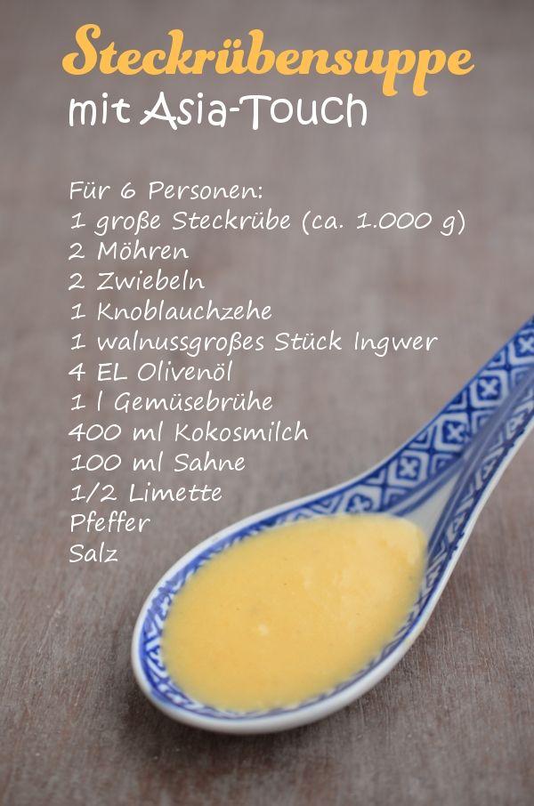 Rezept für Steckrübensuppe mit Asia-Touch (www.rheintopf.com)