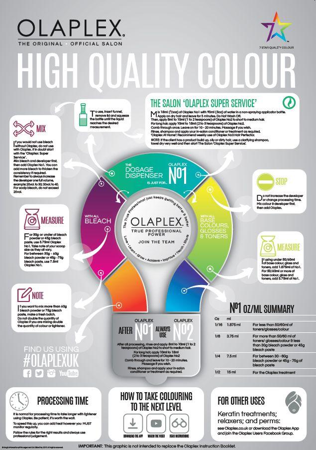 Olaplex Infographic Educational Poster
