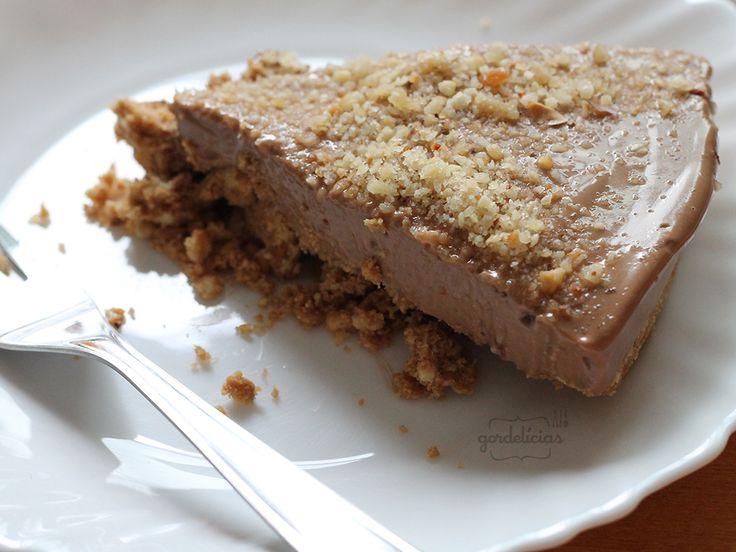 Cheesecake de Creme de Avelã   Gordelícias