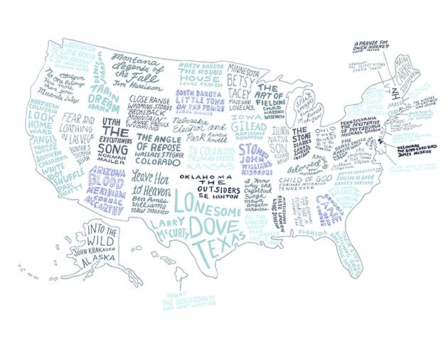 The Literary United States A Map Of The Best Book For Every State - Brooklyn on the us map