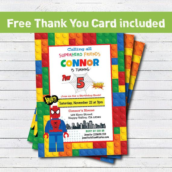 25 best Lego Spiderman / Superhero Party images on Pinterest ...