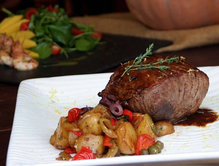 Tuna fillet sautéed marinated in olive paste, sundried tomato and ouzo garnished with warm potato salad !!!Paparouna Wine Restaurant & Cocktail Bar | Our dishes are ready!!!