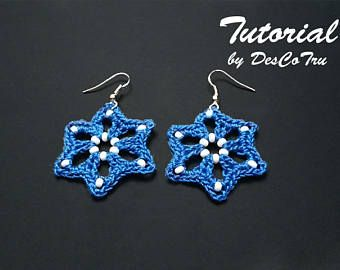 Crochet Earrings with Beads Tutorial  Do It Yourself  Make