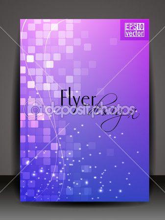 Дизайн листовки, брошюры или Обложка для публикации, печатные и представ — Векторная картинка #11694356