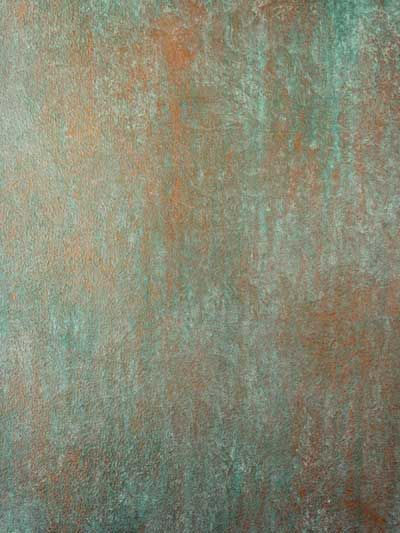 Aged Copper Paint Effect Walls