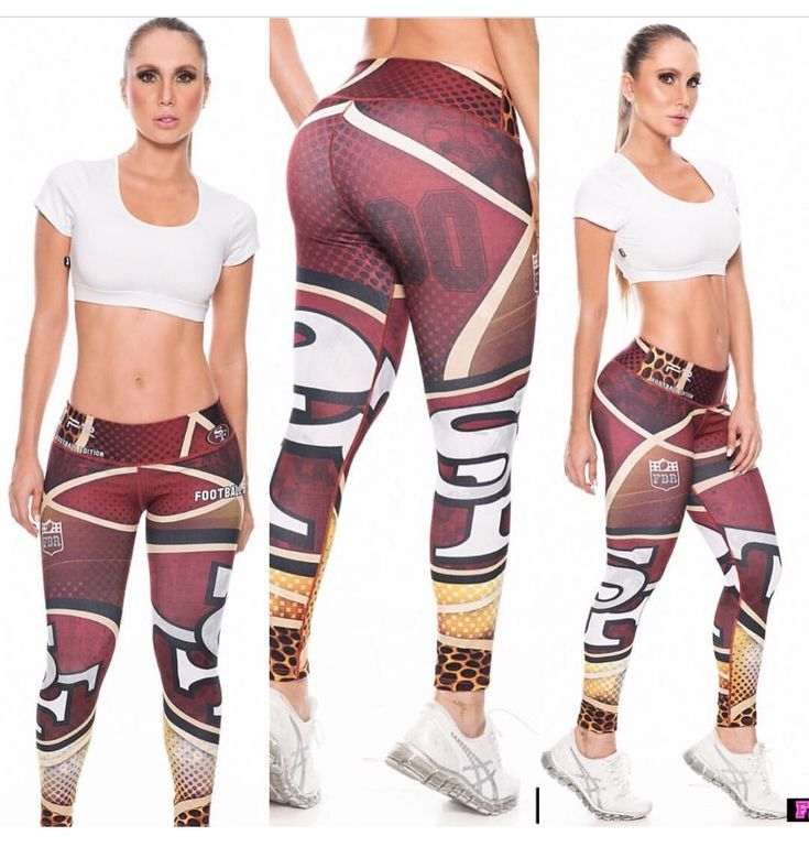 49'ers Leggings, Fiber Amazing NFL Collections.... If you want to see more Visit www.fashionactivewear.com and Follow Us for News #leggings #pants #tights #fashionactivewear #gym #crossfit #yoga #pilates #motivation #sexy #fashion #love #beauty #beautiful #pretty #outfit #shopping #instafashion #nfl #patriots #bengals #fashionista #instastyle #football #sanfrancisco #photooftheday #follow #gameday #49ers